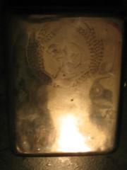 Портсигар серебряный